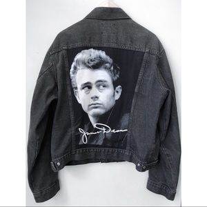 Jackets & Blazers - Vintage James Dean Black Denim Jacket